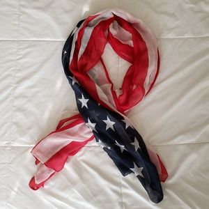 Accessories - NWOT American Flag Scarf
